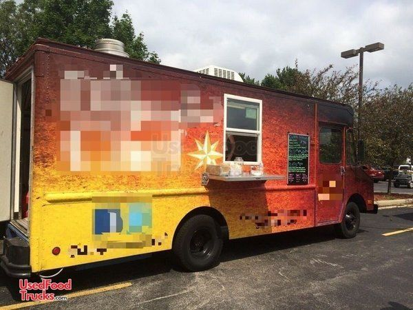 Used Chevrolet Well-Equipped P30 Step Van Mobile Kitchen Food Truck.