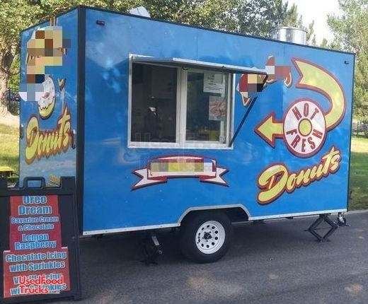 12' Fully Equipped Donut Concession Trailer / Turnkey Mini Donut Business.