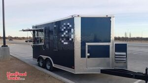 Turnkey Freedom 14' Mobile Coffee Shop Food Concession Trailer.