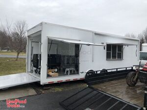 2017 - 8.5' x 28' ATC BBQ Trailer with 2008 Isuzu Truck and Additional Trailer.