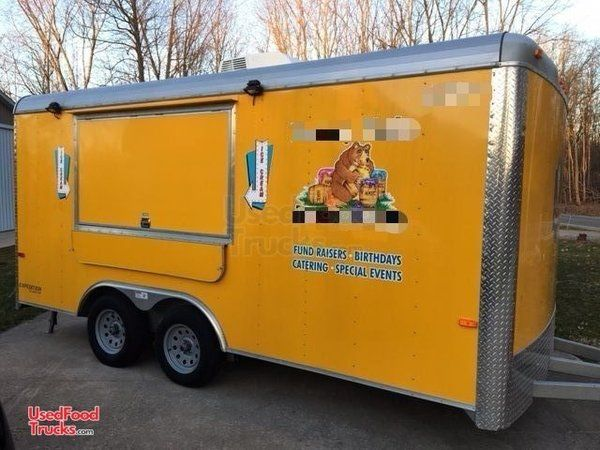 Used Turnkey 2015 8' x 16' Cargo Craft Expedition Ice Cream Concession Trailer.