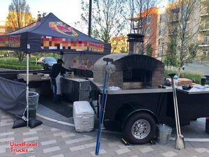 Turnkey 2018 Forno Bravo 6.5' x 9' Wood-Fired Brick Oven Pizza Trailer.