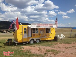 Self-Contained Turnkey 8' x 19' Food Concession Trailer with Restroom.