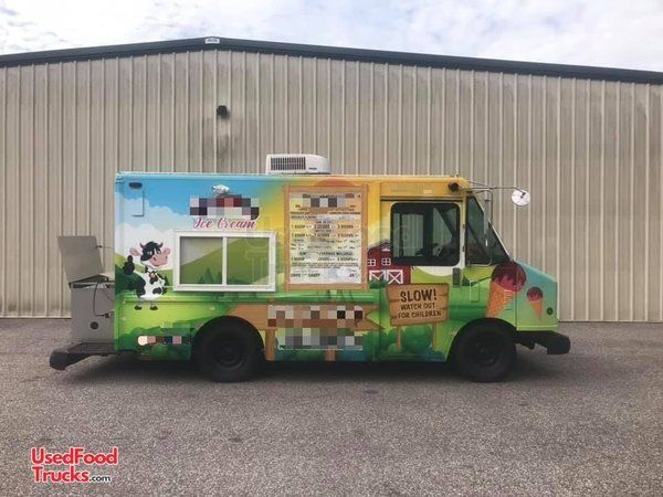 Ready for Business Turnkey GMC 22' Step Van Ice Cream Truck.