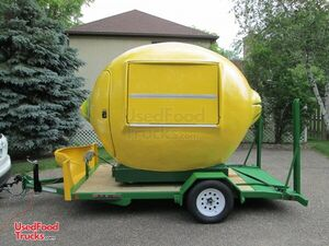 Brand New 2021 - 7' x 11' Lemon-Shaped Roll-Off Concession Stand with Trailer.