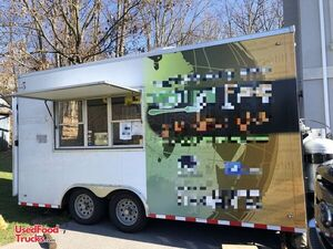 2015 8.5' x 16' Commercial Mobile Kitchen Food Concession Trailer.