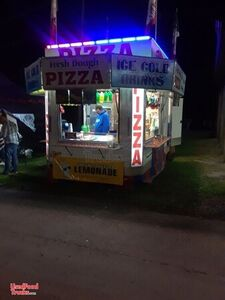 Pizza Concession Trailer with 2005 GMC Box Truck w/ 2 Bunks & Shower.