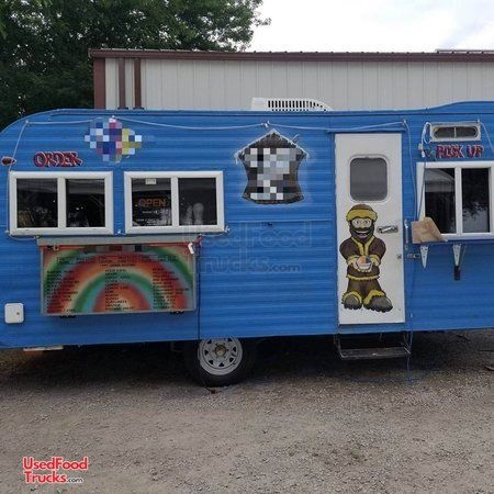 Vintage 1965 Holiday Rambler 8' x 16' Snowball Concession Trailer/Shaved Ice Stand.