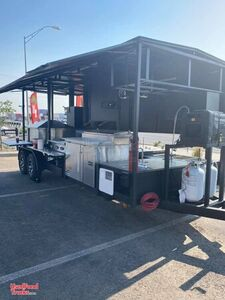 17' Barbecue and Brick Oven Pizza Concession Trailer / Mobile BBQ Rig.