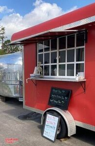 Used 14' Mobile Kitchen / Ready to Cook Food Concession Trailer.