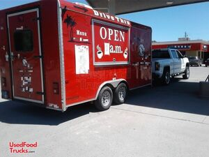 2015 8' x 18' Cargo Craft Expedition Coffee Concession Trailer/Mobile Food Unit.