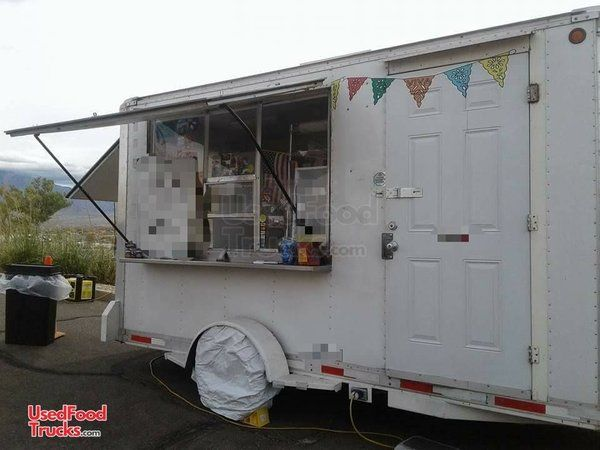 2006 - 7' x 13' CS 14 Mobile Kitchen Unit / Used Food Concession Trailer.