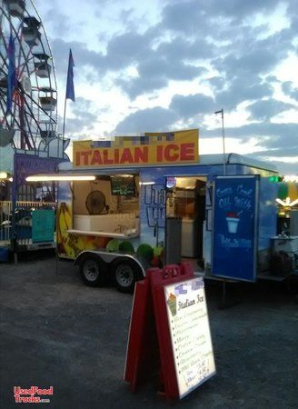 2017  7' x 16' One Scoop Italian Ice Concession Trailer.