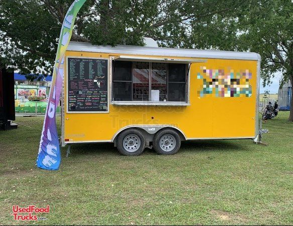 Turnkey 2018 Cargo Craft 8.5' x 16' Shaved Ice Concession Trailer.