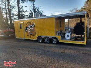 2011 Continental Cargo 8.5' x 28' BBQ Food Catering Trailer with Porch.