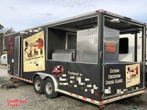2014 8.5' x 30' Barbecue Concession Trailer with 9' Porch/Commercial BBQ Rig.