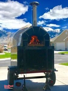 2015 Forno Bravo Casa 2G80 Wood-Fired Brick Oven Pizza Concession Trailer.