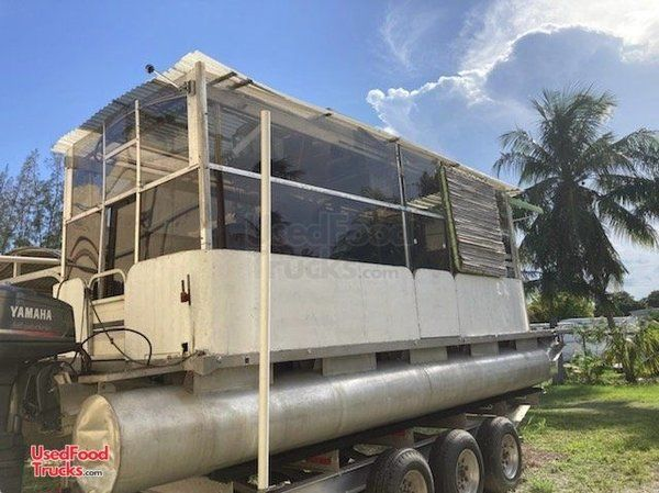 Turnkey Business Heritage 9' x 24' Pontoon State Inspection Approved Food Boat.