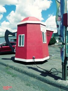 Very Unique 9.2' x 13' Giant Coffee Pot/Teapot Mobile Cafe Coffee Trailer.