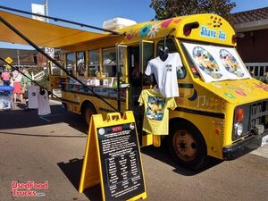 Certified Full Turnkey Classic Chevy Thomas Bus 20' Shaved Ice Snowball Truck.