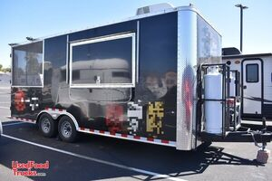 2018 - 8.5' x 20' Cargo Craft Food Concession Trailer w/ Screened Porch.
