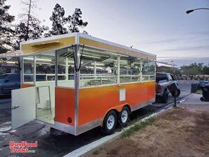 Brand New 2020 - 8' x 18' Mobile Kitchen Food Concession Trailer.