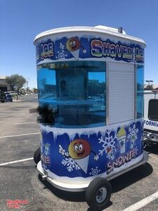 2015 Snowie 5' x 8' Shaved Ice Concession Trailer Towable Snowball Stand.