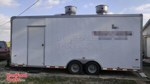 2007 - 8.5' x 22' Mobile Kitchen Food Concession Trailer.