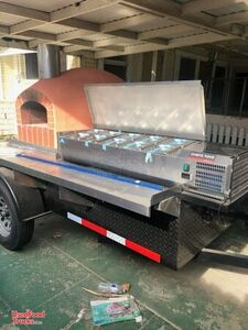 Lightly Used Wood-Fired Pizza Trailer / Brick Oven Pizza Trailer.