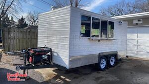 2019 - 7.5' x 15.5' Health Department Approved Food Concession Trailer.