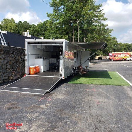 2019 8.5' x 28' Catering Food Concession Trailer w/ Pro Fire Suppression.