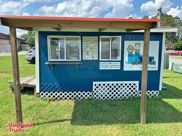 2013 - 7' x 14' Snowball Concession Trailer / Used Shaved Ice Concession Trailer.
