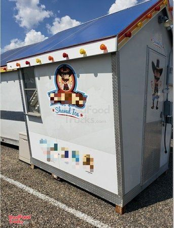 2010 - 10' x 12' Sno Shack Shaved Ice Concession Trailer.