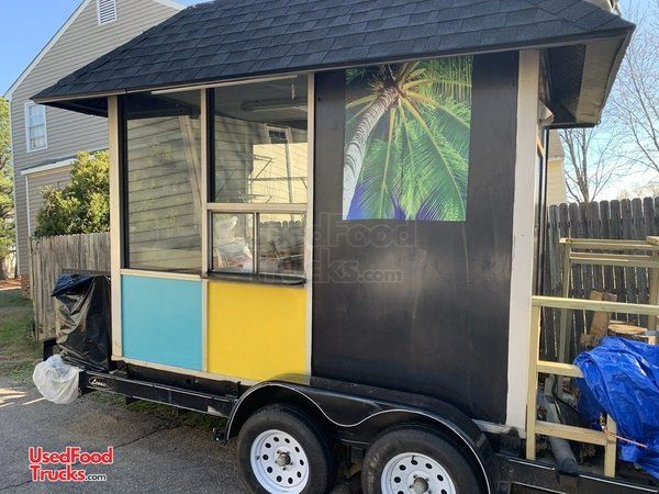 Ready to Cook 6' x 10' Used Mobile Kitchen Food Concession Trailer.