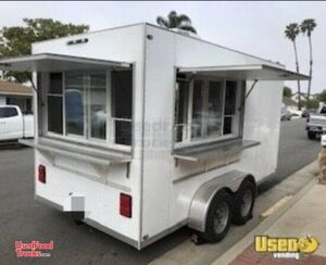 Spotlessly Clean Never Used 2018 - 6.5' x 14' Food Concession Trailer.