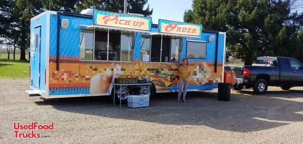 Lightly Used 2019 - 8.5' x 24' Loaded Kitchen Food Concession Trailer with Restroom.