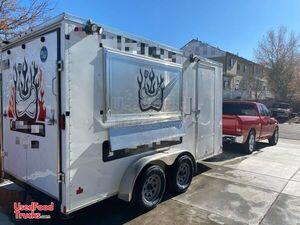 Lightly Used 2019 7' x 14' Mobile Food Concession Trailer.
