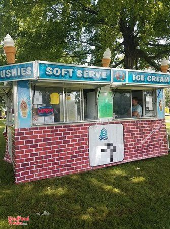 Turnkey 2003 8.5' x 16' Ice Cream and Slushy Concession Trailer.