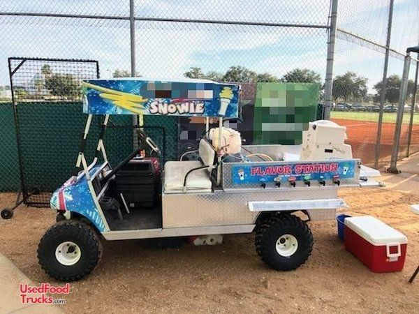 Very Unique Electric EZ Go Golf Cart 5' x 10' Snowball Stand / Shaved Ice Truck.