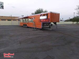 2019 8.5' x 53' Commercial Kitchen Concession Trailer w/ 3 Workstations + 2 Bathrooms.