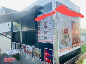 Ready for Business Compact 4' x 8' Street Food Concession Trailer.