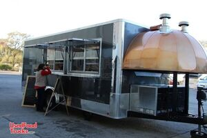 2020 - 8.5' x 27' Turnkey Licensed High Output Wood-Fired Pizza Concession Trailer.