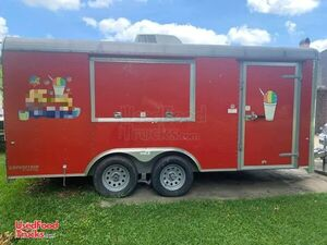 2017 - 8 'x 16' Cargo Craft Shaved Ice Concession Trailer / Snowball Stand.