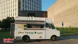 20' GMC P35 FWD Cab Food Truck / Mobile Kitchen with Ansul Pro Fire System.