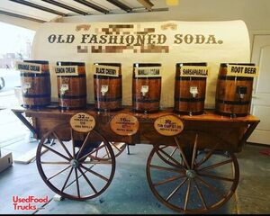 Turnkey Chuck Wagon Style Old Fashioned Soda Business w/ Transport Trailer.