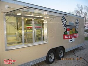 Ready to Go 2007 Wells Cargo 24' Mobile Kitchen Food Concession Trailer.