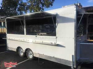 7' x 17' Used Mobile Kitchen / Street Food Vending Concession Trailer.