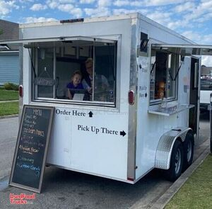2018 7.5' x 14' Turnkey Ready Nitrogen Ice Cream Concession Trailer.