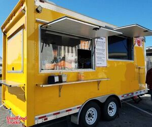 2018 Quality Cargo 8' x 16' Mobile Kitchen Food Concession Trailer.