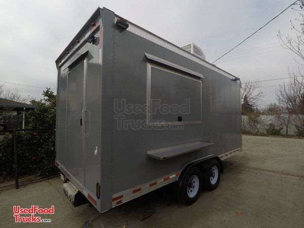 CUSTOM Built NEW 2021 8' x 16' Food Concession Trailer/Complete Mobile Kitchen Unit.